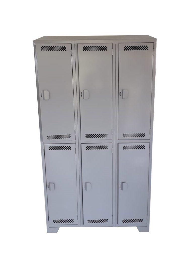 Casillero metálico techo recto con porta candado